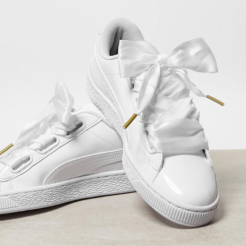 puma basket heart patent white white online bei onygo. Black Bedroom Furniture Sets. Home Design Ideas