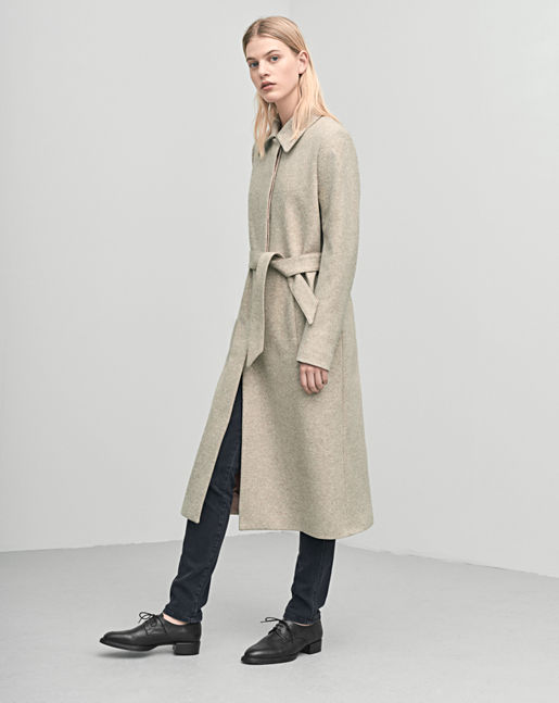 Iza Long Wool Coat →