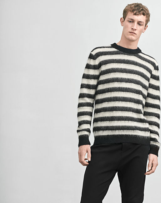 Mohair Mix Stripe Sweater →