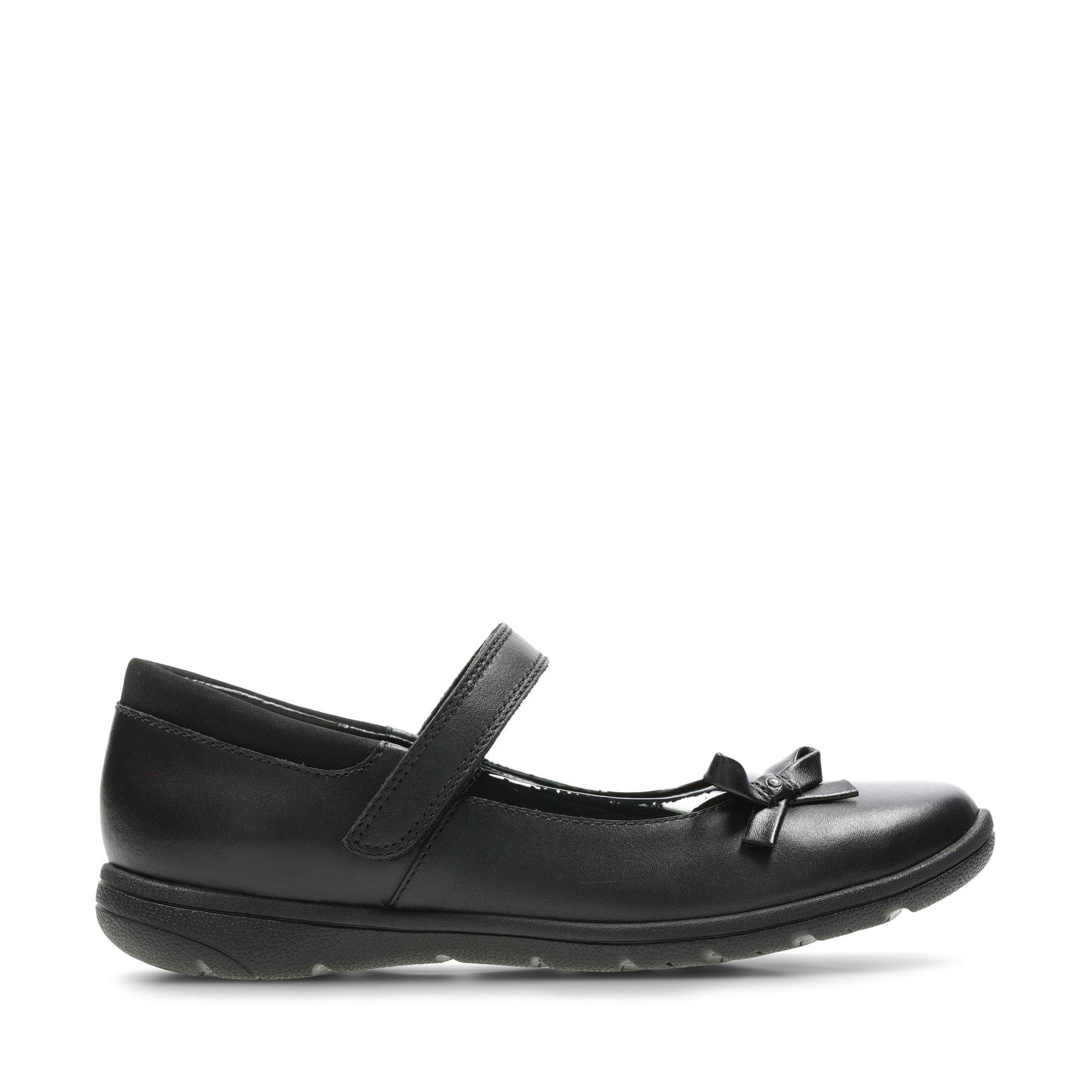 Clarks Venture Star - Black Leather - Childrens 13