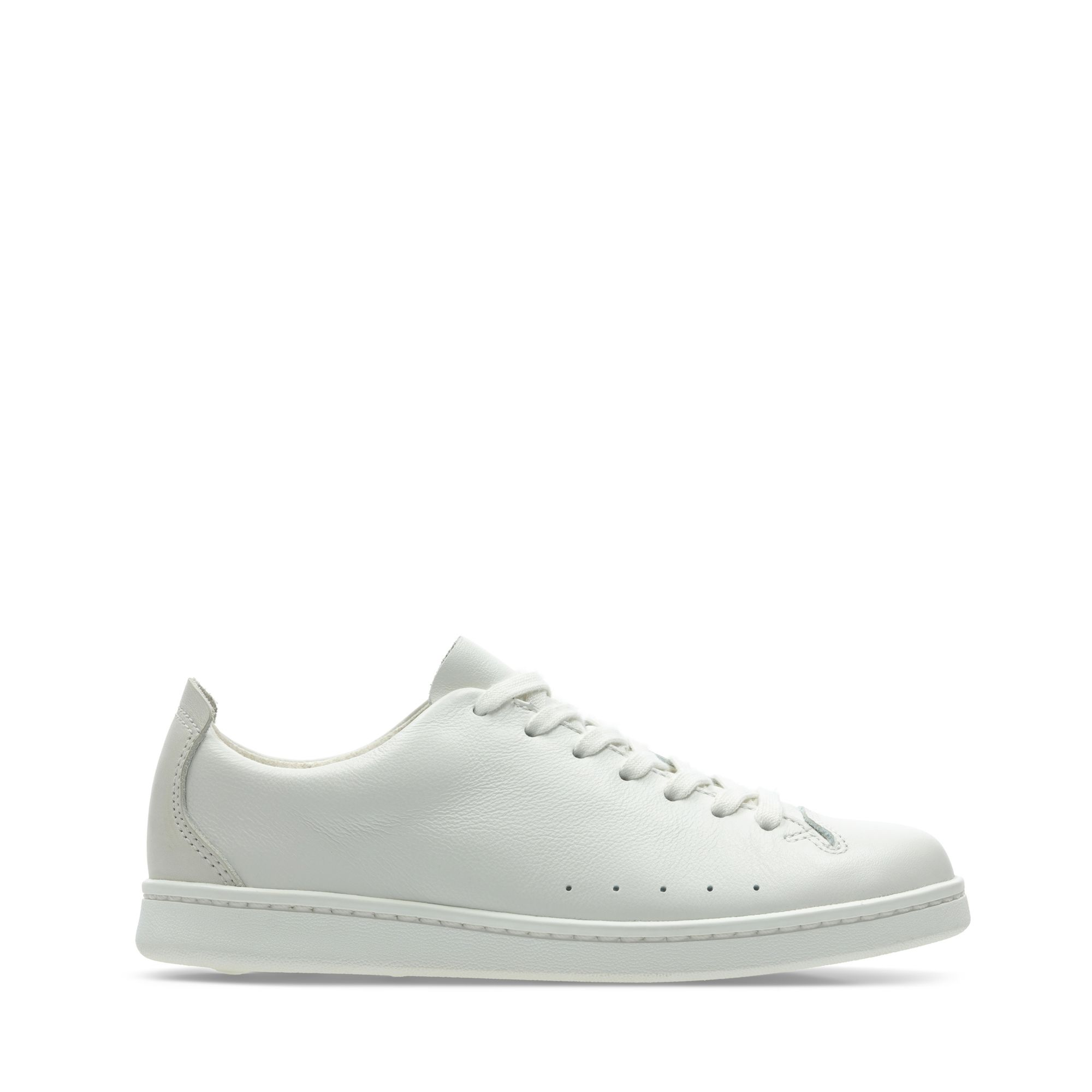 Clarks Nate Lace - White Leather - Childrens 1.5