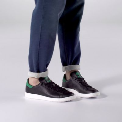 size 40 4ee17 b06c9 ... Sold out. adidas - Stan Smith Boost Shoes Core Black  Core Black   Green ...