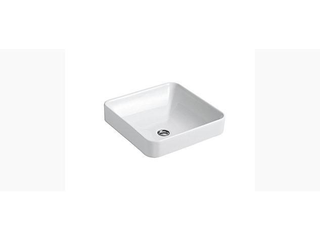 Vox square vessel basin 413mm