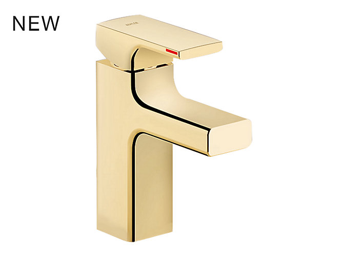 Strayt Single Control Lavatory Faucet In Polished Chrome