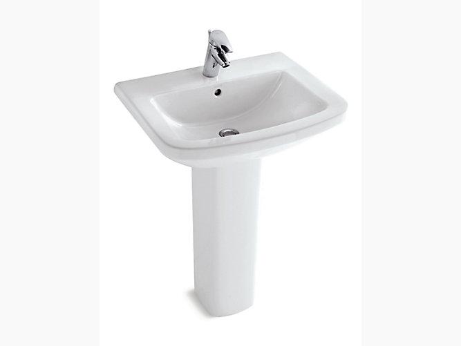 Panache Pedestal Lavatory With Single Faucet Hole K