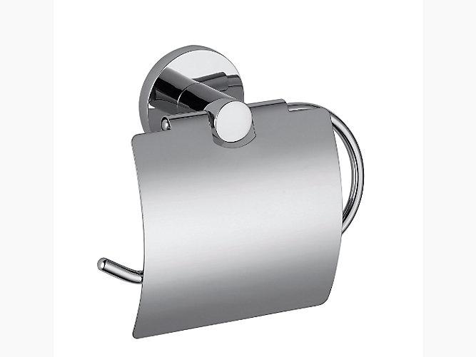 Cruz toilet tissue holder with cover | K-10705D | KOHLER