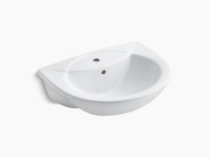 Odeon Semi Recessed Lavatory With Single Faucet Hole K 11160t 1 Kohler