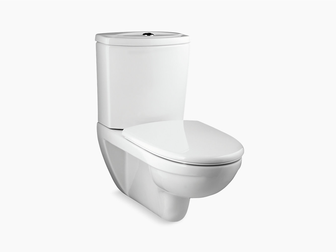 Odeon wall-hung toilet with exposed tank with Quiet-Close seat and ...