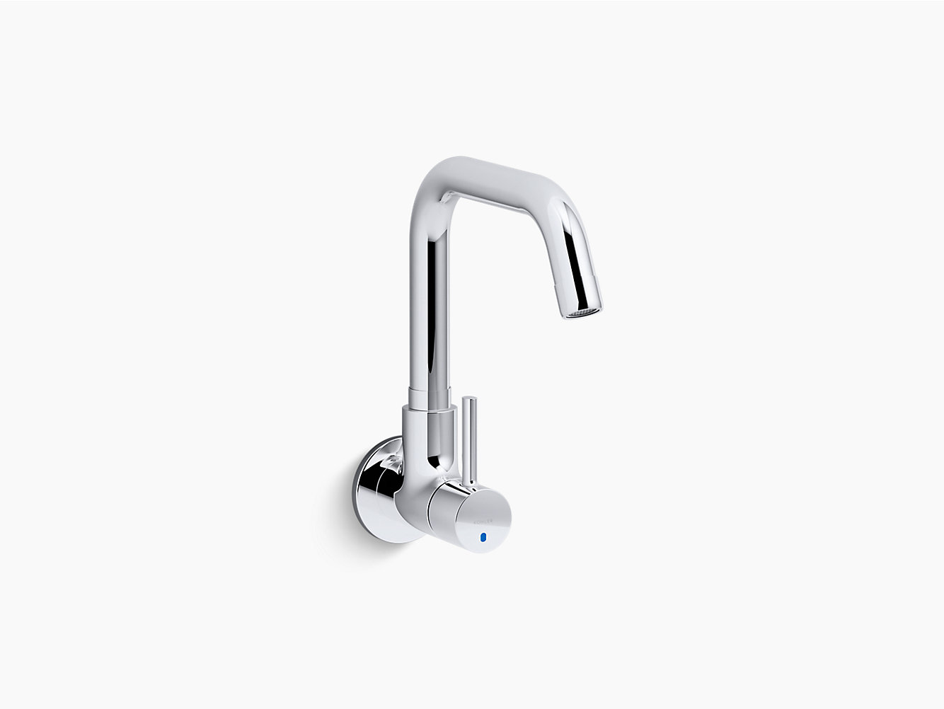 Cuff Single handle wall-mount cold-only kitchen faucet | K-37314IN-4 ...
