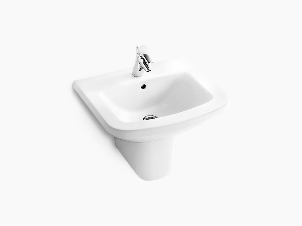 Panache Half Pedestal Lavatory With Single Faucet Hole K 17656k Kohler