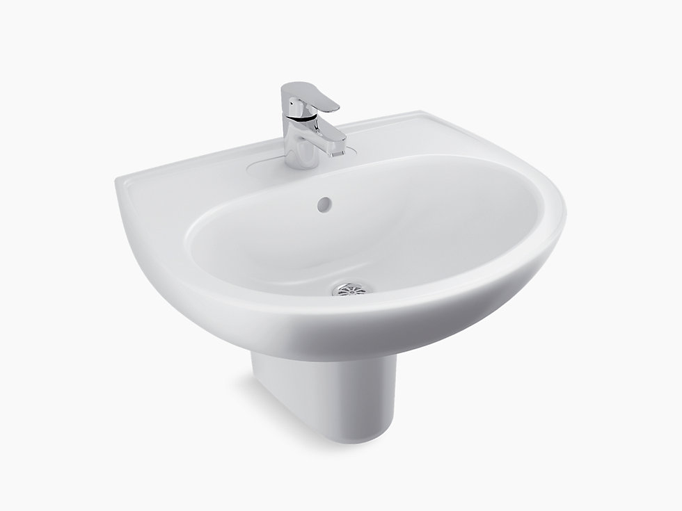 Brive Half Pedestal Lavatory With Single Faucet Hole K 96050in Kohler