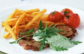 Steak and frites with Marquis de Chasse