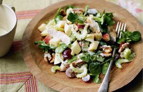 Waldorf twist salad with Fireflower Chenin Pinot Grigio