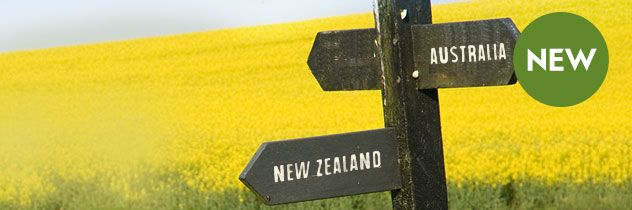 Australia and New Zealand Sign post