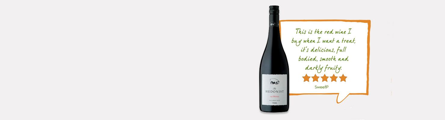 One of our top rated wines and review: 'This is the red wine i buy when i want a treat its delicious, full bodied, smooth and darkly fruity'