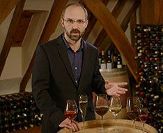Stephane Sanchez shows how to serve wine