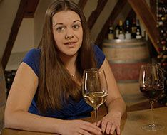 Anne Jones shows how to taste wine