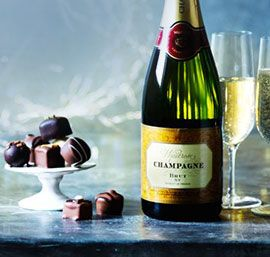 Champagne gift with chocolate and Champagne