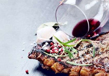 A steak and an argentinian wine