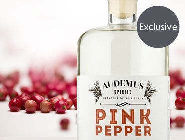 Pink pepper gin