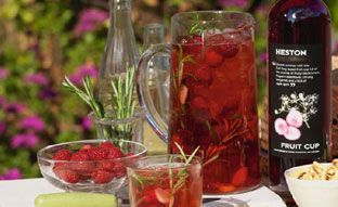 A summer table laid with drinks