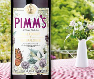 Pimms Elderflower and Blackberry