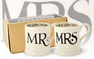 Emma Bridgewater Mr & Mrs Mugs