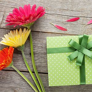occasions image with gift and flowers