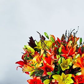 Autumnal flowers from Waitrose Florist