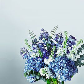 Waitrose cool coastal colours bouquet