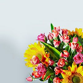 Waitrose hot summer colours bouquets