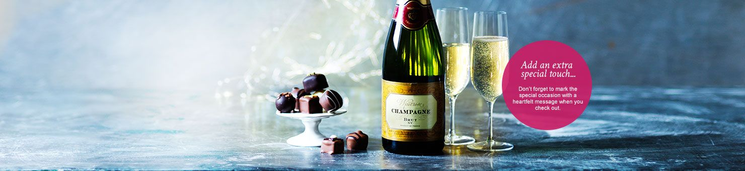 Champagne and chocolate gift on Waitrose Gifts