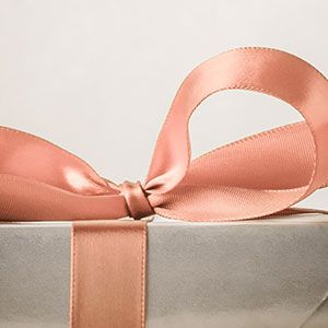A box tied with a ribbon
