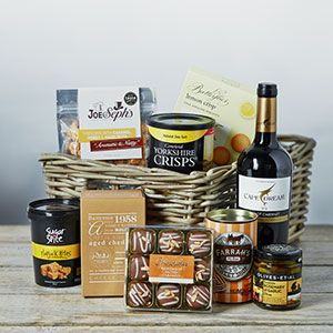 A Hamper laiden with goodies