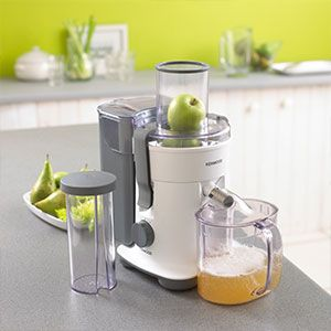 A centrifugal juicer