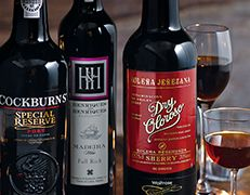 Bottles of Port Sherry and Madeira