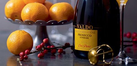 Christmas oranges and Prosecco