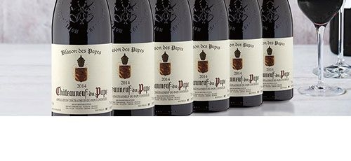 Bottles from one of our Châteauneuf-du-Pape