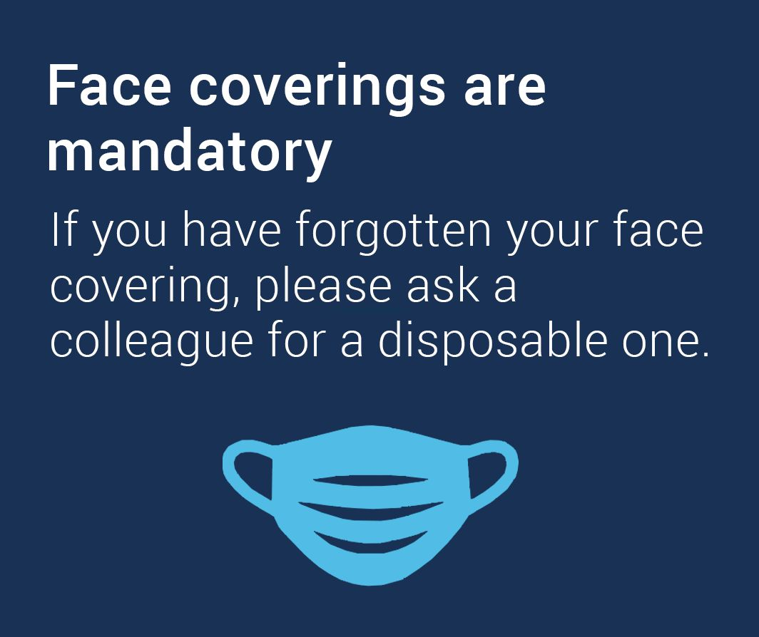 Face coverings are mandatory