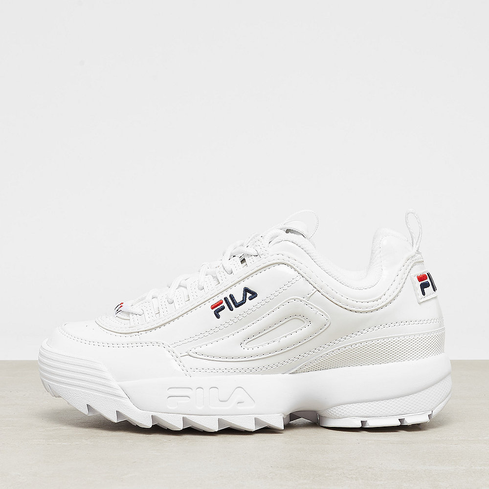 Fila Disruptor M Low Wmn white patent