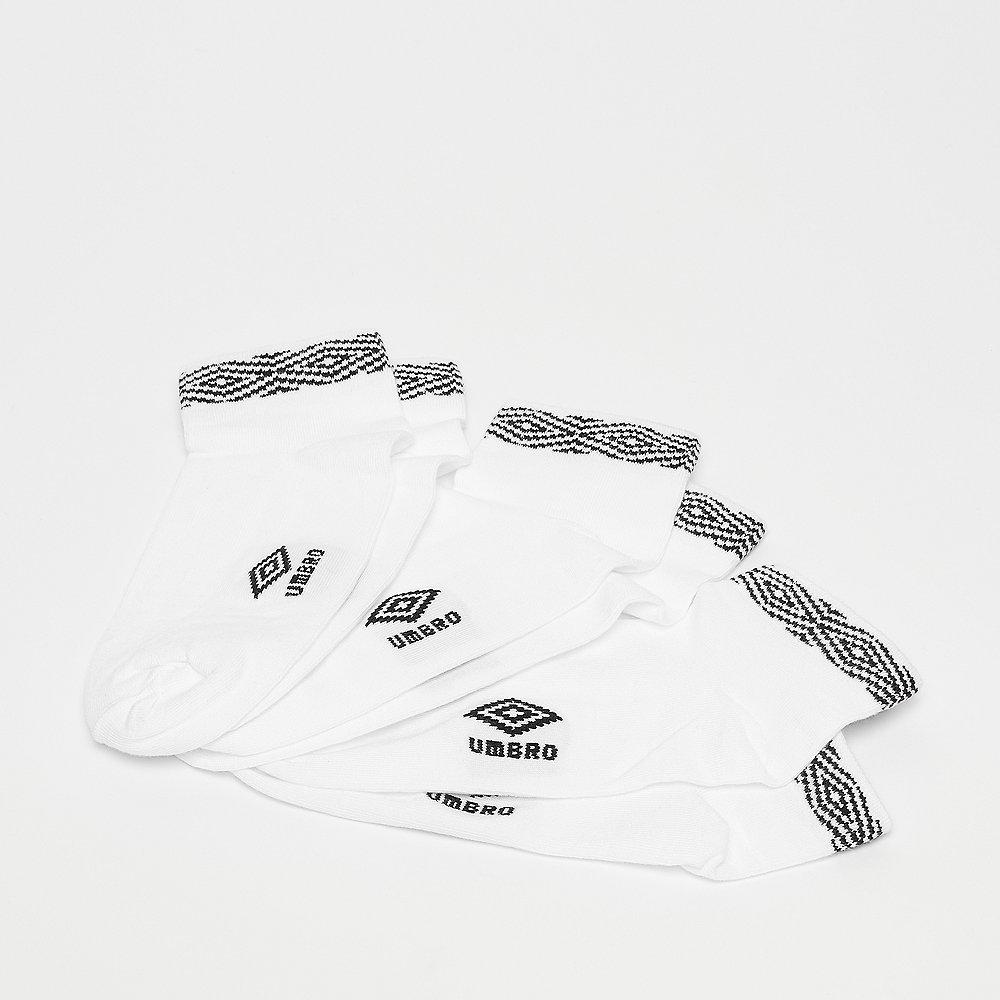 Umbro Projects Trainer Liner Socks 3pck white/black