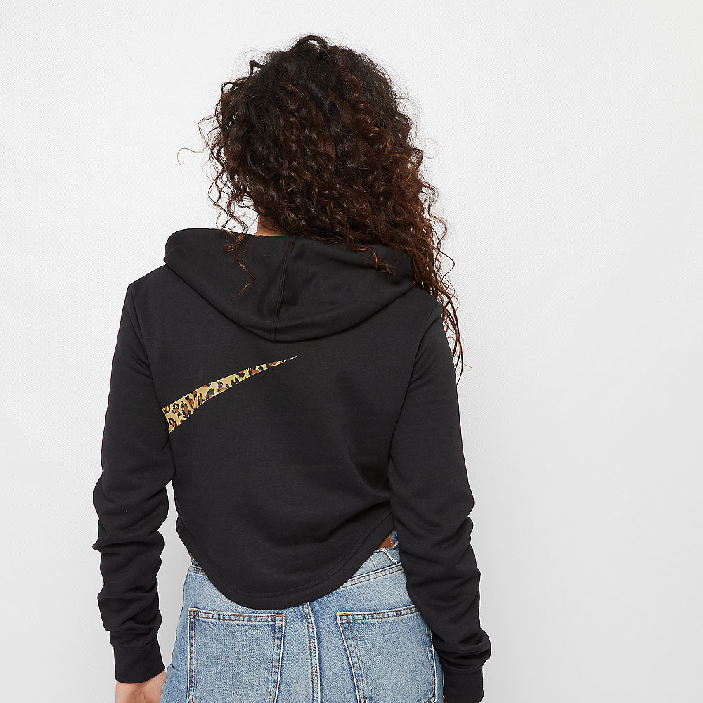 NIKE NSW Hoodie Crop Animal black