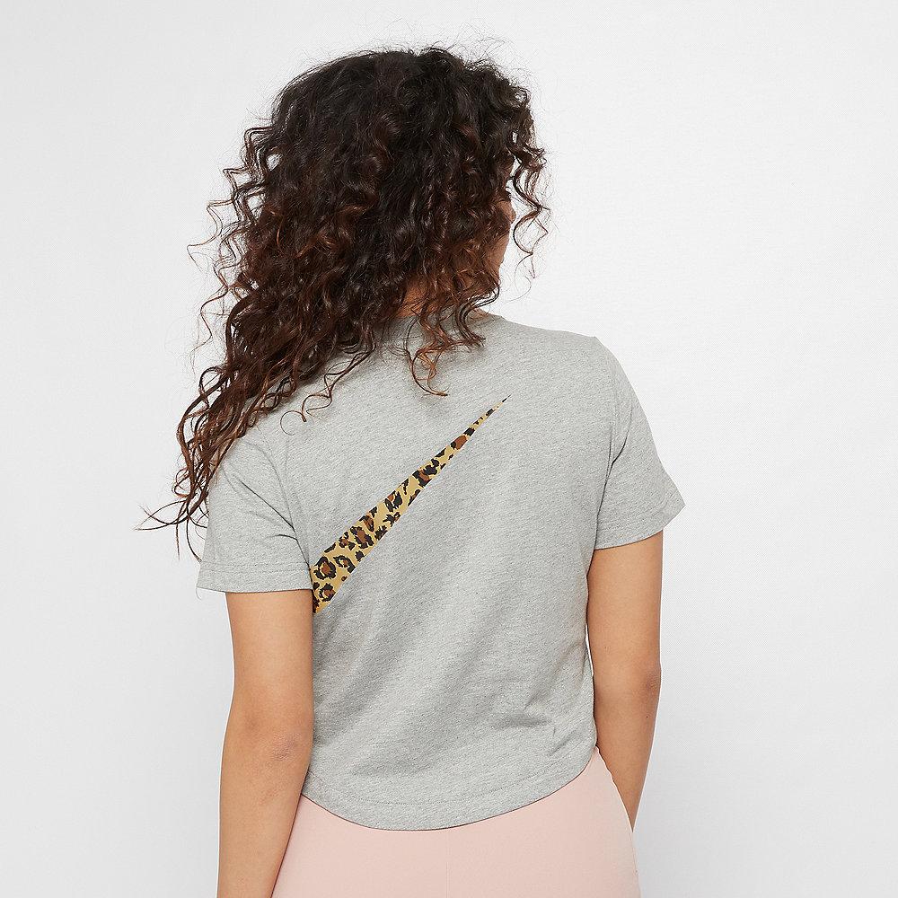 NIKE NSW T-Shirt Crop Animal dark grey heather