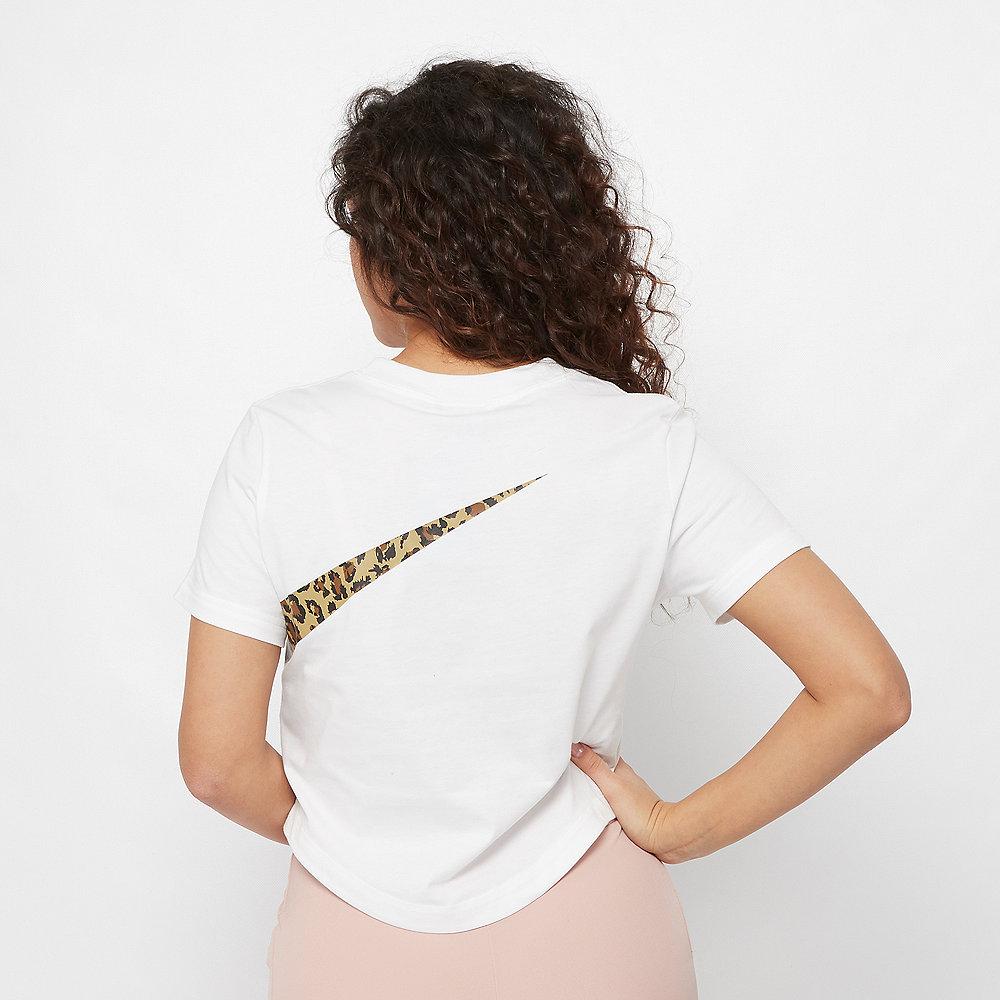 NIKE NSW T-Shirt Crop Animal white
