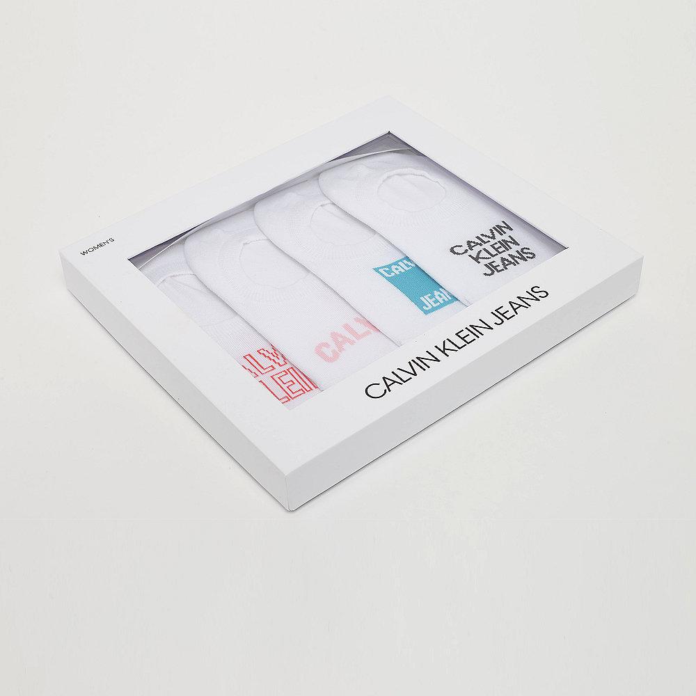 Calvin Klein 4 pr Gift Jeans Logo sneaker liner gift box white