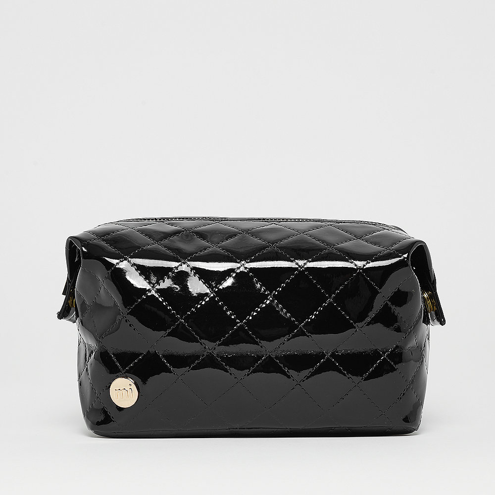 Mi-Pac Gold Wash Bag Patent Quilt black