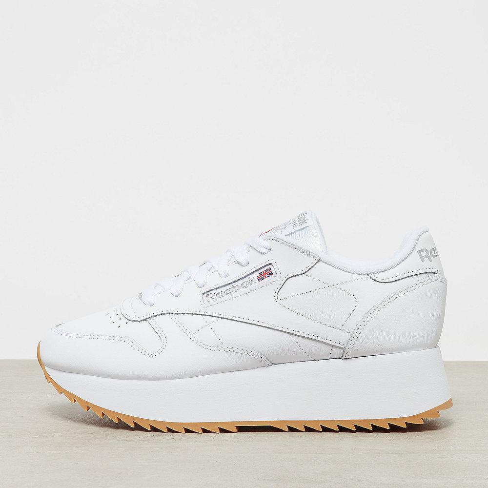 Onygo Reebok Classic Leather Double Schuhe Whitesilver Metgum Bei TlFcK1J3