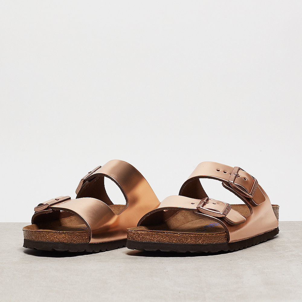 Birkenstock Arizona metallic copper