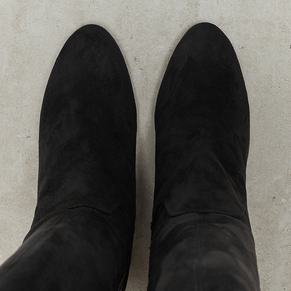 Buffalo Overknee High Heel nero 02
