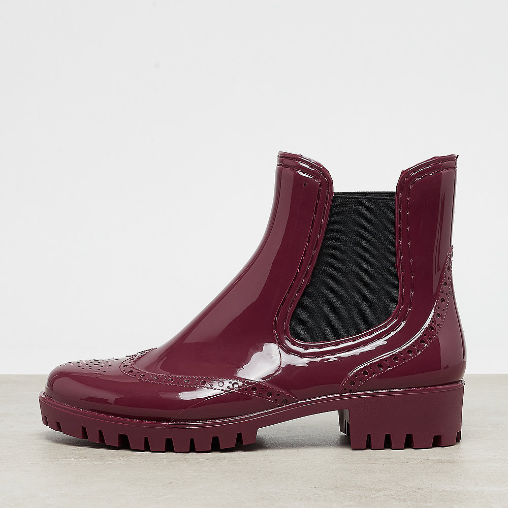 Buffalo Rubber Boot Chelsea Platform red
